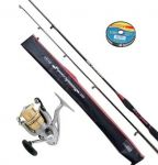 Combo Equipo Spinning Daiwa Power Carbon + Obsequio
